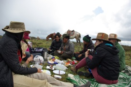 Lunch on the high plateau