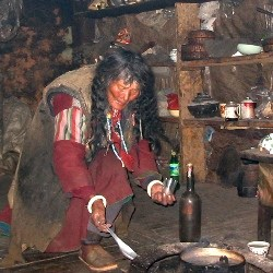 Tashi Lhamo cooking