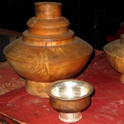 Tsampa holders and bowls
